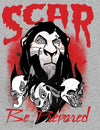 The Lion King Scar Be Prepared Children's Unisex Grey T-Shirt