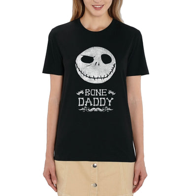 Nightmare Before Christmas Bone Daddy Ladies Black T-Shirt
