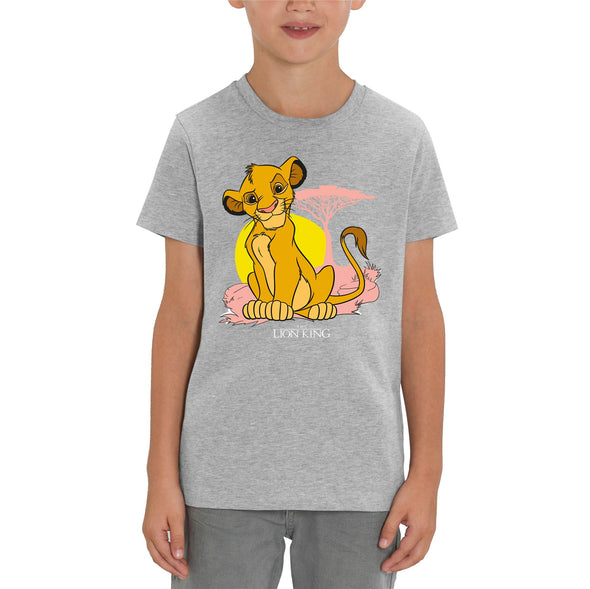 The Lion King Simba Pastel Children's Unisex Grey T-Shirt