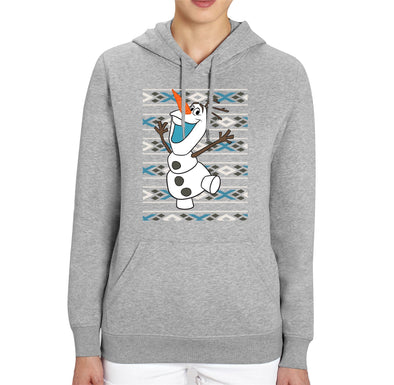 Disney Frozen Christmas Olaf Adults Unisex Grey Hoodie