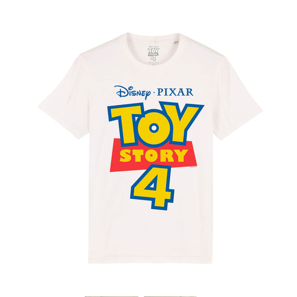 Disney Toy Story 4 Classic Movie Logo Ladies White T-Shirt