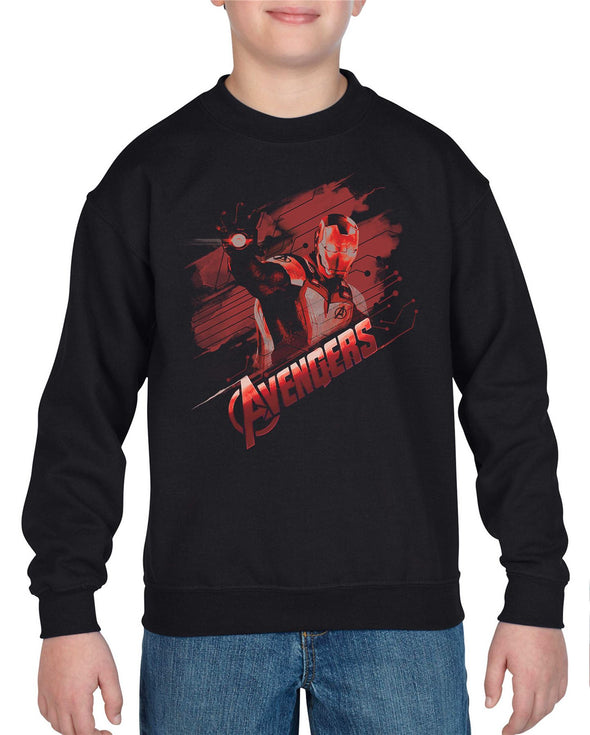 Avengers Endgame Iron Man Tech Adults Unisex Black Sweatshirt
