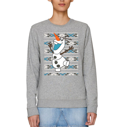 Disney Frozen Christmas Olaf Adults Unisex Grey Sweatshirt