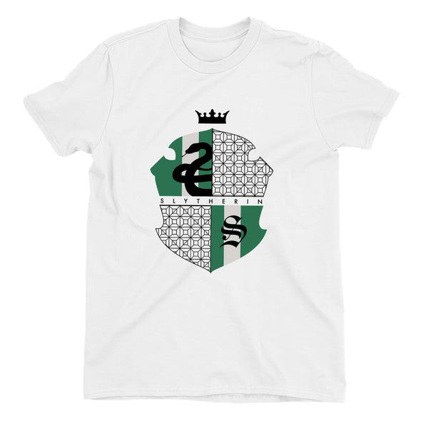 Harry Potter Slytherin Green & Black Crest Ladies White T-Shirt