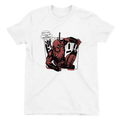 Deadpool Tacos Ladies White T-Shirt