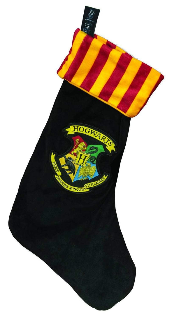 Hogwarts Harry Potter Fleece Christmas Stocking Woven Badge