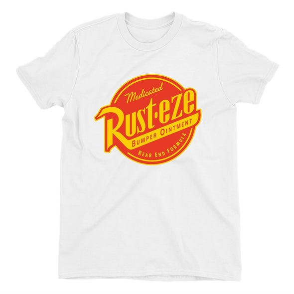 Disney Pixar Cars Rust-eze Logo Ladies White T-shirt