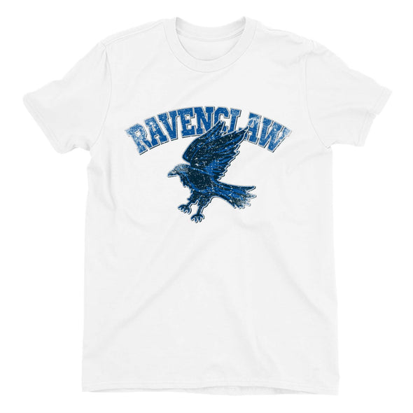Harry Potter Distressed Ravenclaw Raven Children's Unisex White T-Shirt