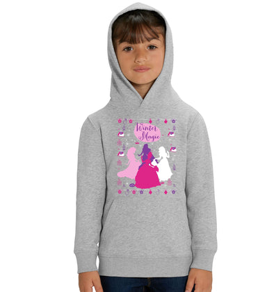Disney Princess Winter Magic Children's Grey Unisex Hoodie
