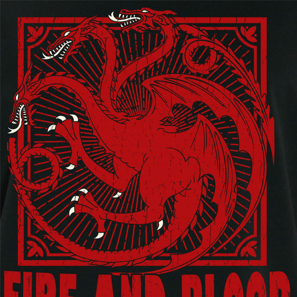 Game Of Thrones Fire & Blood Men's Black T-Shirt