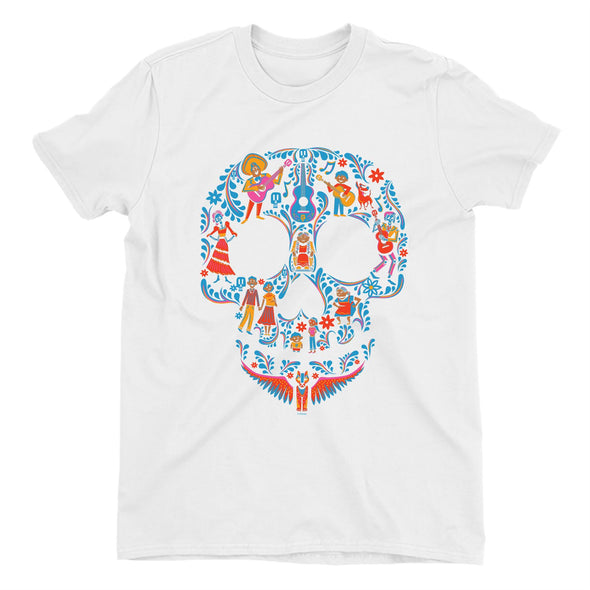 Disney Pixar Coco Skull Men's White T-Shirt