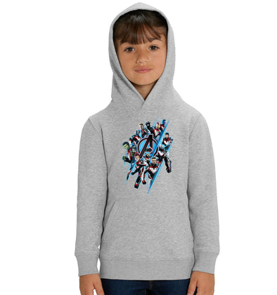 Avengers End Game A Team  Children's Unisex Grey Hoodie
