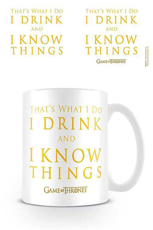 Game of Thrones Drink and Know Things Mug