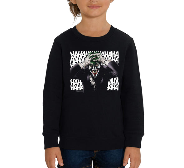 DC Comics Batman The Joker Killing Joke Children's Unisex Black Sweatshirt