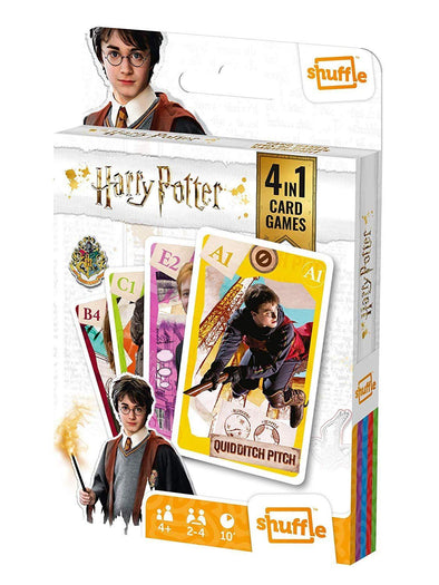 Harry Potter Shuffle Fun 4 in 1 Card Games | Ages 4+ 2-4 Players