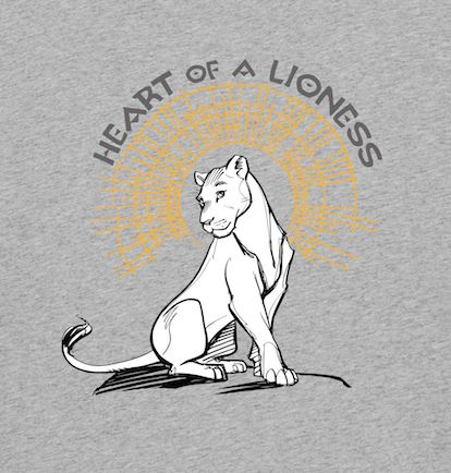 Heart of a Lioness Ladies Grey Lion King T-Shirt