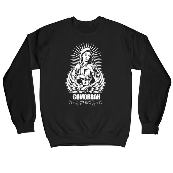Gomorrah Loaded Mother of Jesus Men's Black Sweatshirt