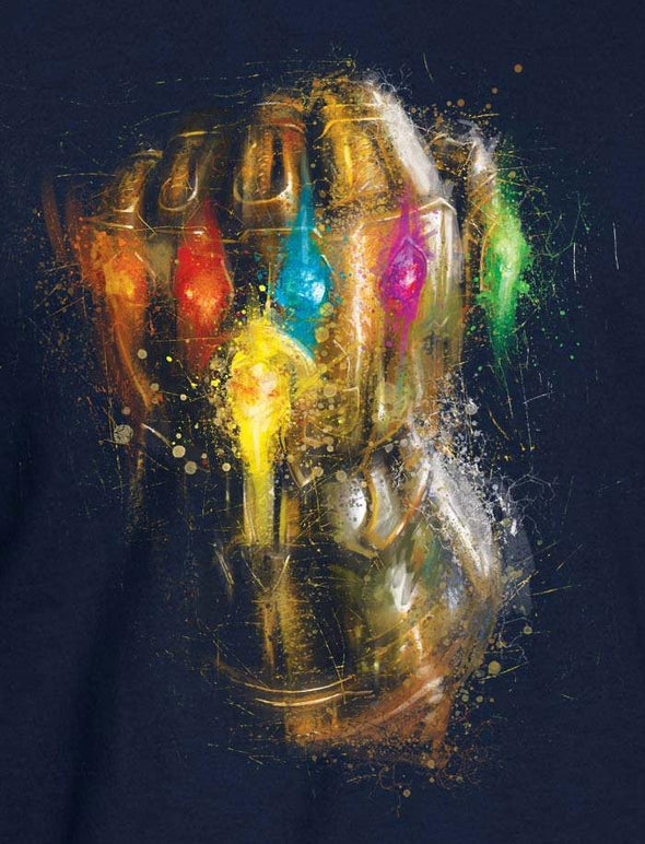 Avengers Endgame Infinity Gauntlet Men's Navy T-Shirt