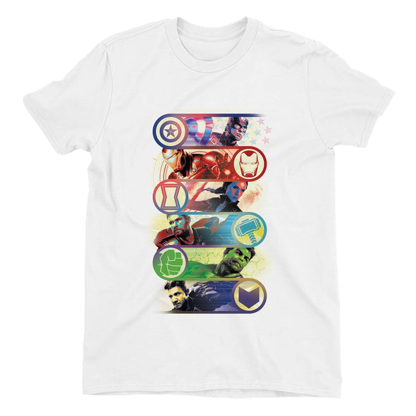 Avengers Endgame Original Heroes Children's Unisex White T-Shirt