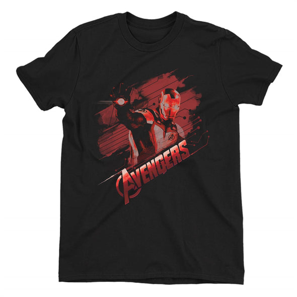 Avengers Endgame Iron Man Tech Children's Unisex Black T-Shirt