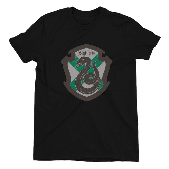 Harry Potter Slytherin Shield Ladies Black T-Shirt