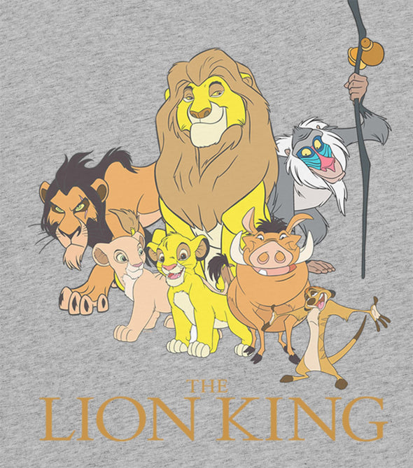 The Lion King Group Photo Ladies Grey T-Shirt