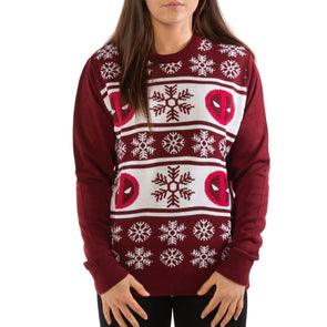 London Co. Deadpool Red Unisex Christmas Knitted Jumper
