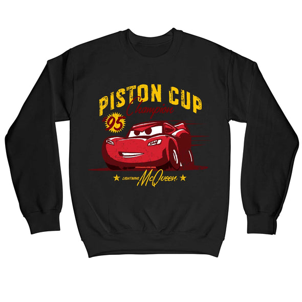 Disney Pixar Cars Piston Cup Champion Children's Unisex Black Sweatshirt