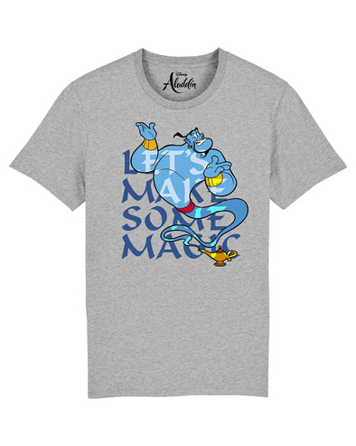 Aladdin Genie Let's Make Some Magic Men's Grey T-Shirt