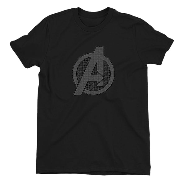 Avengers Endgame Iconic Logo Children's Unisex Black T-Shirt