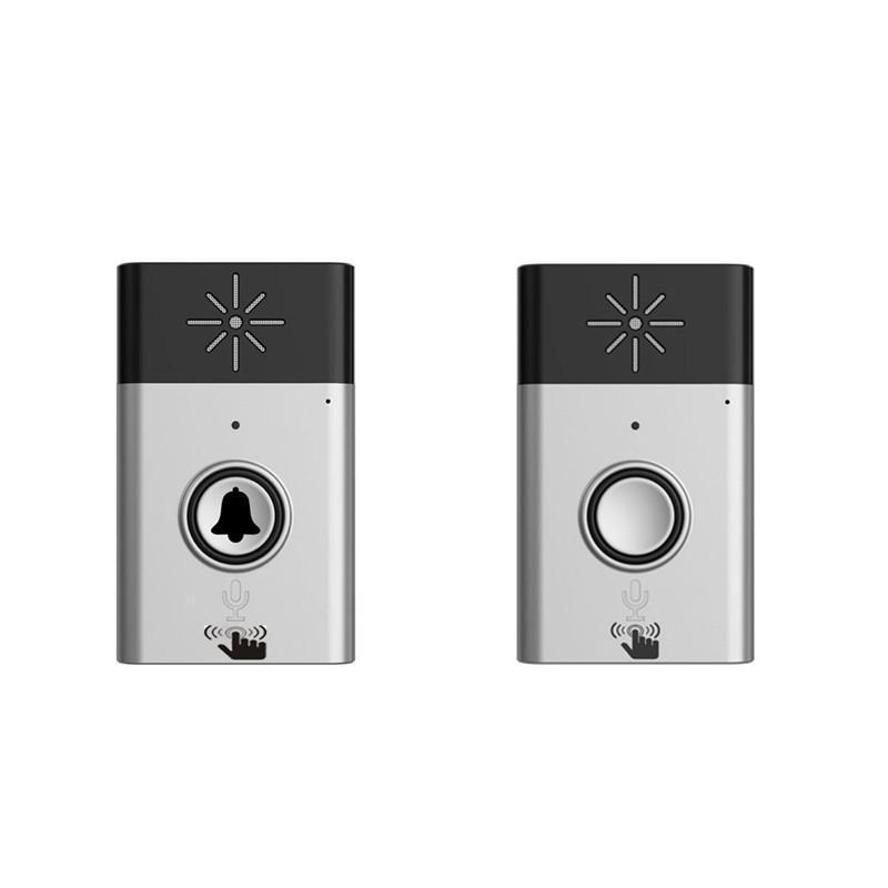 2.4G Wireless Intercom Doorbell Wireless Voice Two-Way Portable Walkie-talkie Doorbell (Silver) - ZATAKI