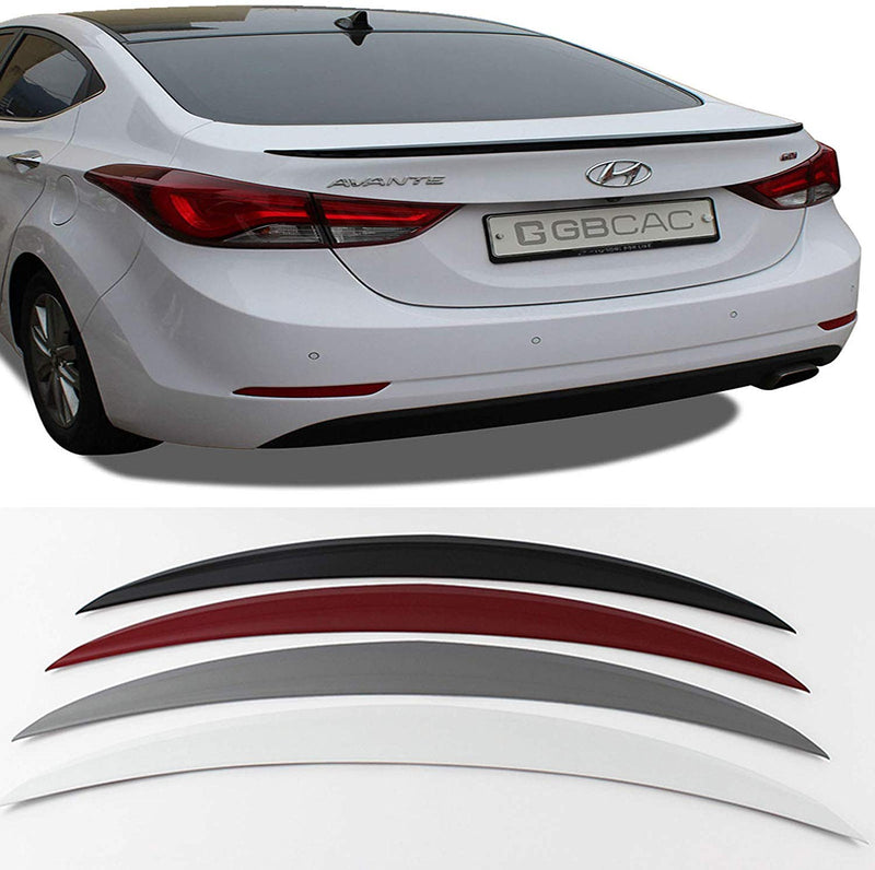 Sleek Silver Rear Trunk Spoiler for Hyundai Elantra 2011 - 2016
