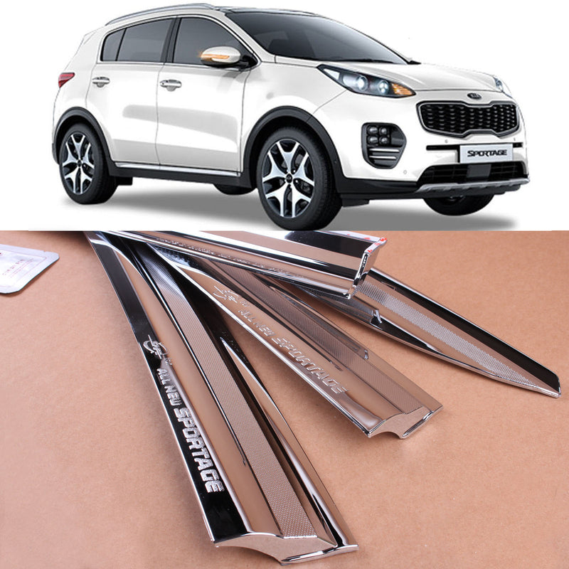 4-Piece Chrome Window Vent Visors Rain Guards for Kia Sportage 2017 - 2021 Free Shipping - Motor City Auto