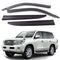 4-Piece Smoke (Black) Window Vent Visors Rain Guards for Toyota Land Cruiser 2008 - 2015