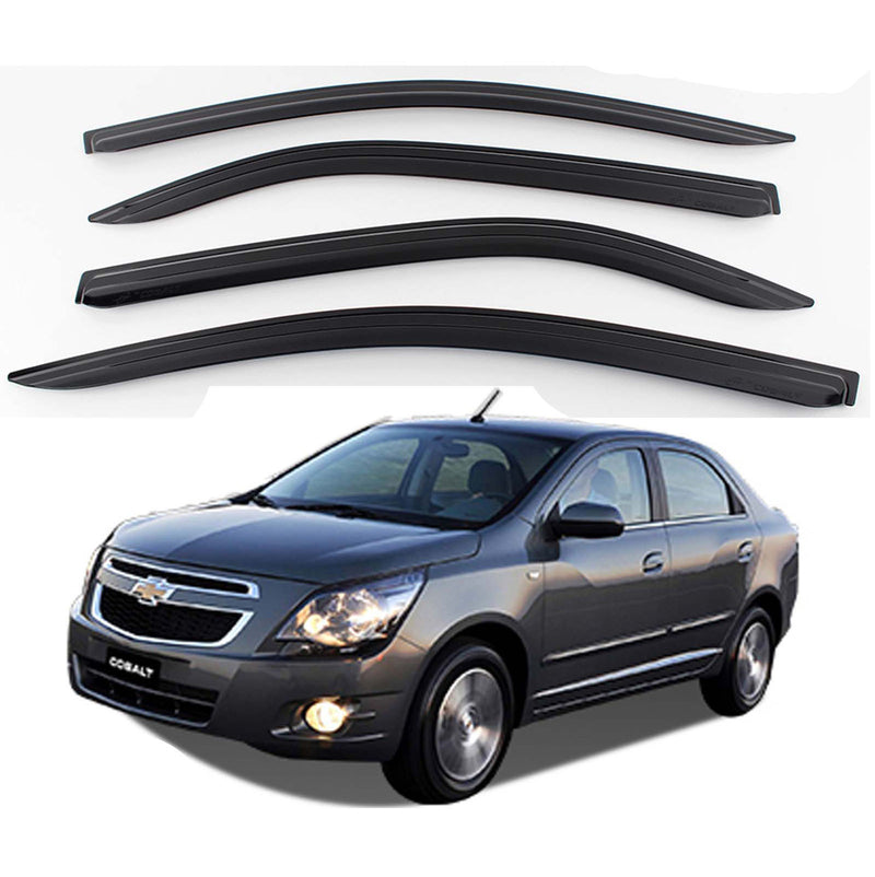 4-Piece Smoke (Black) Window Vent Visors Rain Guards for Chevy Cobalt 2011+