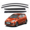 4-Piece Smoke (Black) Window Vent Visors Rain Guards for Hyundai i10 2014 - 2018+