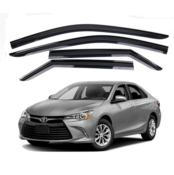 4-Piece Smoke (Black) Window Vent Visors Rain Guards for Toyota Camry 2015 - 2017