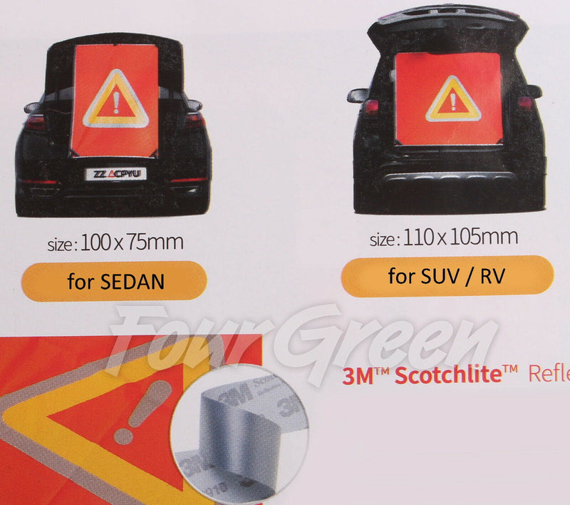 Magnetic Reflective Emergency Warning Hazard Sign with 3M Scotchlite Reflective Material Free Shipping - Motor City Auto