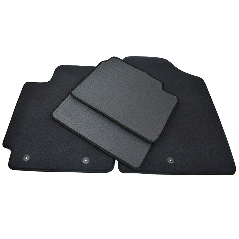 Full Black Carpet Floormat Set for Hyundai Veloster 2012 - 2017 Free Shipping - Motor City Auto