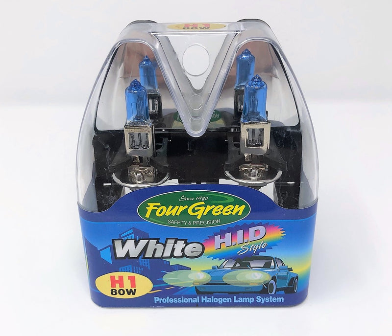 H1 12V 80W - 2-Pack Premium Halogen Headlight Bulb Set