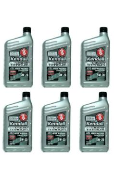 5W20 GT-1 High Mileage / Endurance Synthetic Blend Motor Oil with Liquid Titanium by Kendall