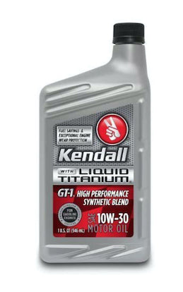 10W30 GT-1 High Performance Synthetic Motor Oil with Liquid Titanium by Kendall
