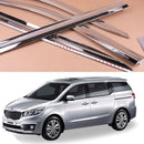4-Piece Chrome Window Vent Visors Rain Guards for Kia Sedona (Carnival) 2015 - 2019+