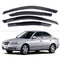 4-Piece Smoke (Black) Window Vent Visors Rain Guards for Hyundai Avante XD 4-Door 2002 - 2006