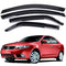 4-Piece Smoke (Black) Window Vent Visors Rain Guards for Kia Forte 2008 - 2012