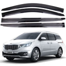 4-Piece Smoke (Black) Window Vent Visors Rain Guards for Kia Sedona (Carnival) 2015 - 2019+