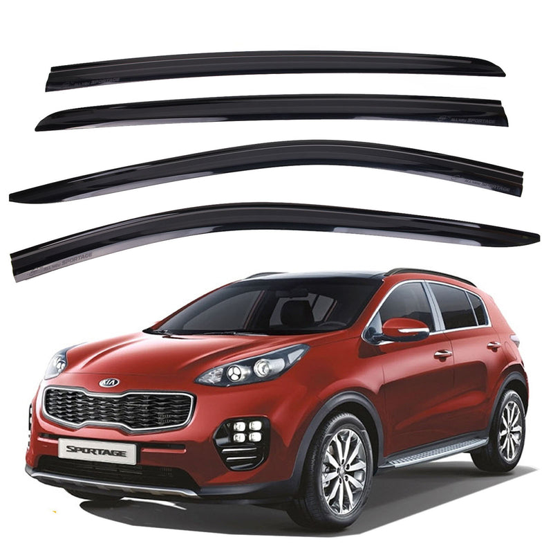 4-Piece Smoke (Black) Window Vent Visors Rain Guards for Kia Sportage 2017 - 2019