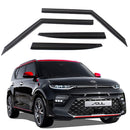 4-Piece Smoke (Black) Window Vent Visors Rain Guards for Kia Soul 2019 - 2020+