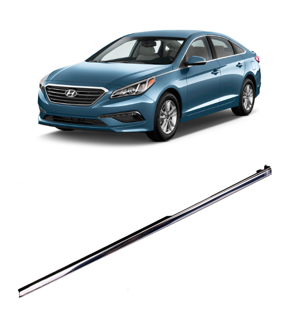Chrome Fender Molding Trim, Left Driver Side for 2015 - 2017 Hyundai Sonata (87771-C1000)