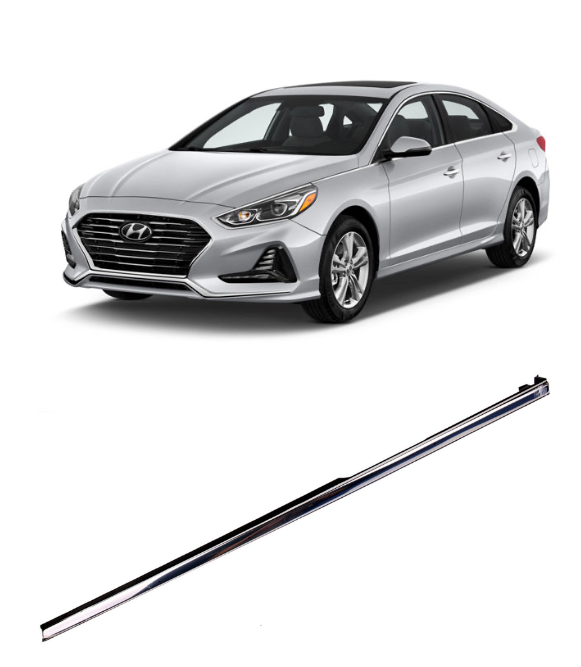 Chrome Fender Molding Trim, Left Driver Side for 2018 - 2019 Hyundai Sonata (87771-C1500)